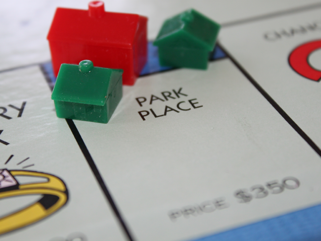 Real estate investment forms - Monopoly style.